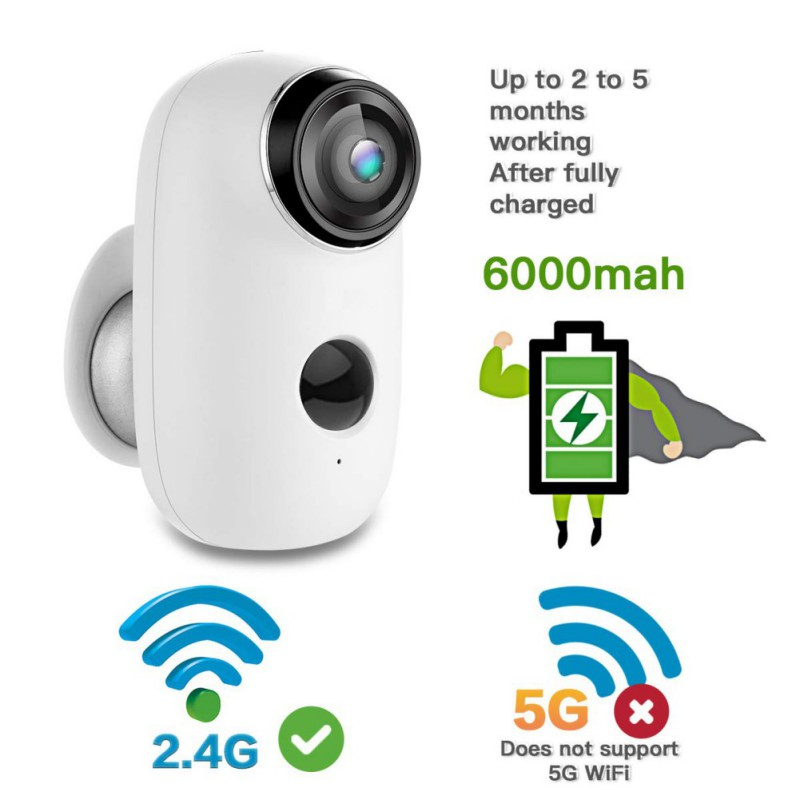 1080P HD Smart Surveillance Camera Home Waterproof Mobile 2.4G WIFI Remote Monitoring Camcorders Long Standby
