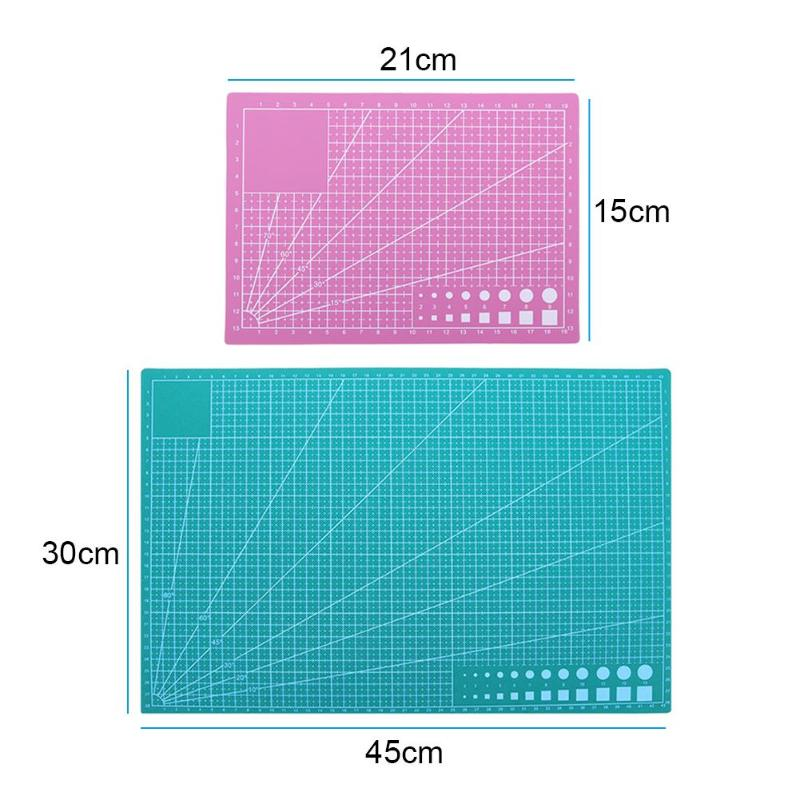 A5/A3 PVC Paper Cutting Mat Board DIY Patchwork Mat Pad Self-healing Leather Cutting Mat For Writing Drawing Desktop Protector