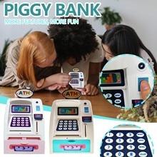 ATM Savings Bank money box Toys tirelire Kids Talking ATM Savings Bank Insert Bills for Kids Gift Own Personal Cash Point#2