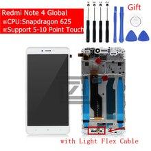 Dla Xiaomi Redmi Note 4 globalny wyświetlacz LCD ekran dotykowy Digitizer zgromadzenie dla Redmi note 4x snapgradon 625 ekran naprawa części