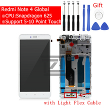 for Xiaomi Redmi Note 4 Global LCD Display Touch Screen Digitizer Assembly for redmi note 4x snapgradon 625 screen Repair Parts