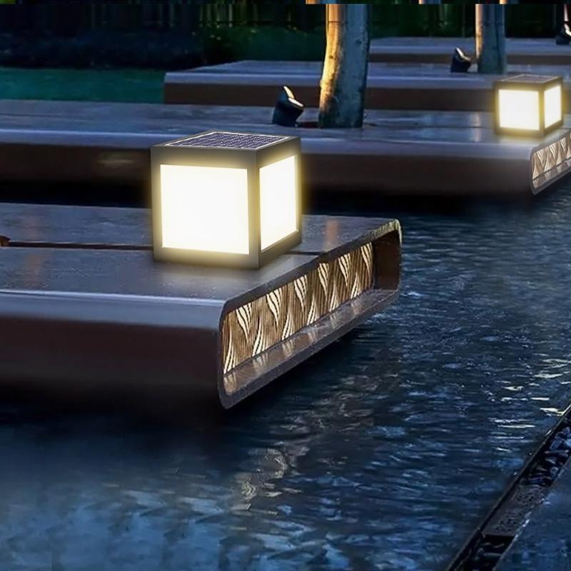 lampada conduzida posta solar do pilar 02