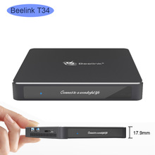 Beelink t34 mini pc intel celeron j3455 8 gb 128 gb/256 gb windows 10 wifi duplo, 4 k uhd win10 desktop pc linux jogo nuc
