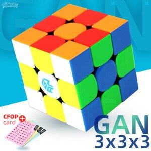 Image 1 - 3x3x3 Gan 356 Air Master Advance Master Gan Air S Gan Air SM Magnetic Gifts Cfop Formula Card Speed Magnets Magic Cubes 3x3