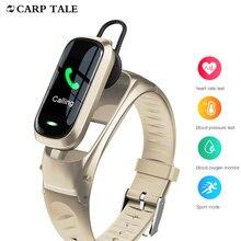2 Trong 1 Không Dây Tai Nghe Bluetooth Chụp Tai Vòng Tay Thông Minh HD Gọi Thoại Cardio Theo Dõi Nhịp Tim Đồng Hồ Thông Minh Smartwatch Cho Iphone Huawei Xiaomi