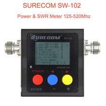 Mới Surecom SW 102 Đo 125 520 MHz Kỹ Thuật Số VHF/UHF Điện & SWR Đo SW102 Cho 2 Chiều đài Phát Thanh