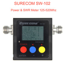 Yeni SURECOM SW 102 metre 125 520 Mhz dijital VHF/UHF güç ve SWR metre SW102 iki yönlü radyo