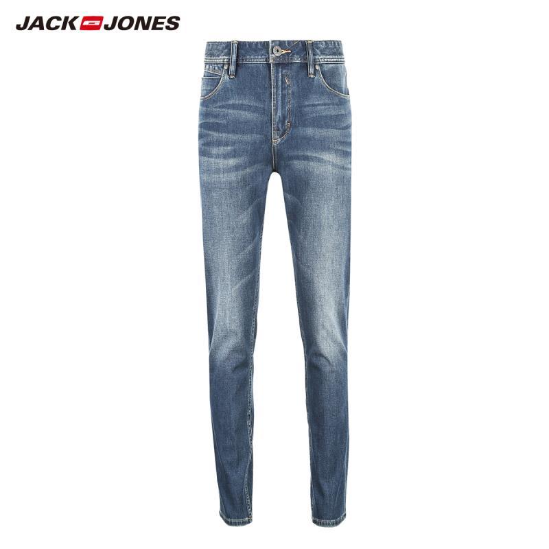 JackJones мужские эластичные мужские джинсы хлопковые джинсовые широкие брюки подходят брюки бренд Мужская одежда 219132584 - Цвет: 501-Skinny