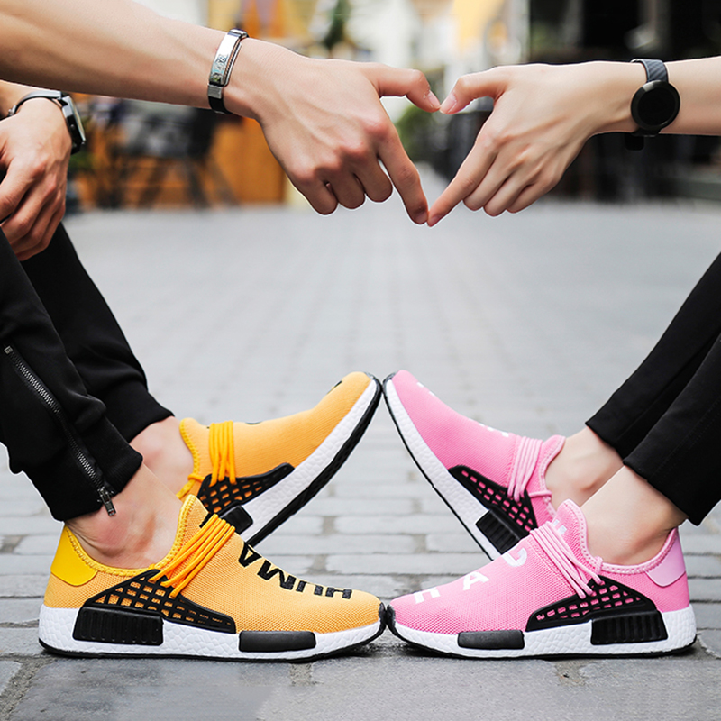 New Women's And Men's Casual Shoes Couple Sports Shoes Red Large Size Running Shoes Fashion Wear Breathable Mesh Shoes