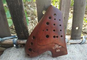 Image 4 - Great sound smoked burn three tubes 3 pipes AG ocarina multichamber flute alto G music instrument