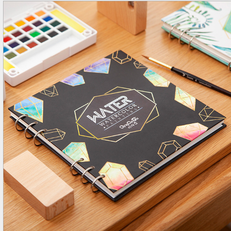Sketchbooks for Drawing Sketching Watercolor Book Thickening Square Painting Paper for Art Graffiti Office Stationery