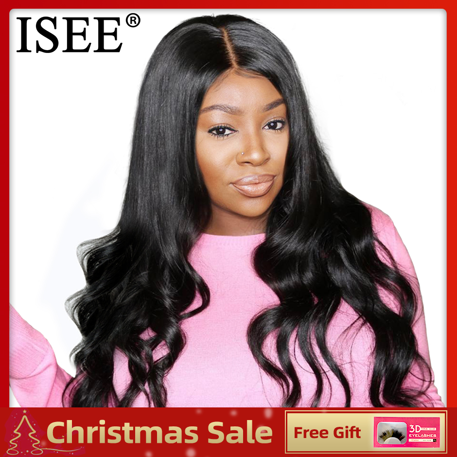 ISEE HAIR Wigs Body Wave Lace Front Wigs For Women 130%/150% Density Lace Wigs Brazilian Body Wave Lace Front Human Hair Wigs