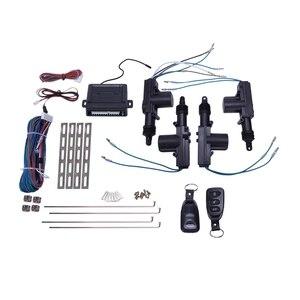 Универсальный автомобильный Мощность Дверные замки Привод 12 вольтовый dc-двигатель с напряжением (4 шт) Автомобильный пульт центральный Упр...