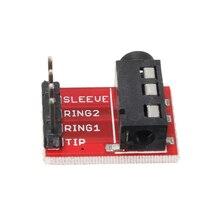 Аудио модуль гнездо стерео джек Breakout доска модуль расширения портативный мини 5 шт практичный