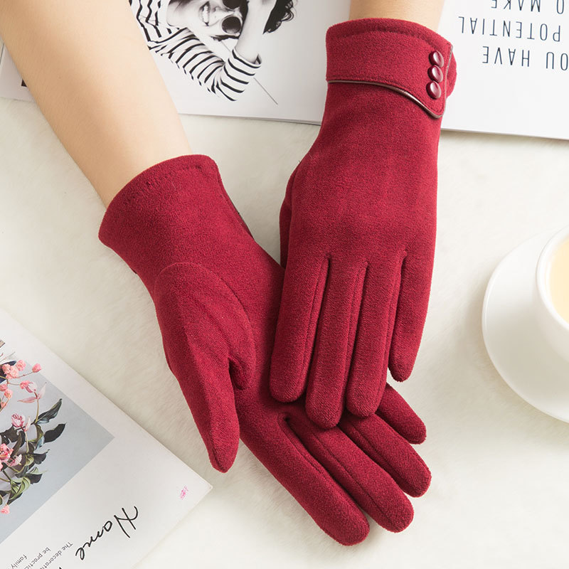 SPARSIL Windproof and Warm Touch Screen Gloves Made of Velvet Suitable for Any Touch Screen Device 1
