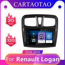 """Autoradio pour Renault Logan 2014 2015 2016 2019 système multimédia Android 8.1 lecteur de navigation vidéo 10 """"écran tactile WIFI 2din"""