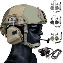 HD-11 армейская тактическая охотничья стрельба гарнитура страйкбол Пейнтбол гарнитура военный шлем CS Wargame наушники PTT рация