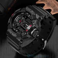 SANDA Marke Armbanduhr Männer Uhren Militär Armee Sport Neue Armbanduhr Dual-Display Männliche Uhr Für Männer Uhr Wasserdicht Stunden