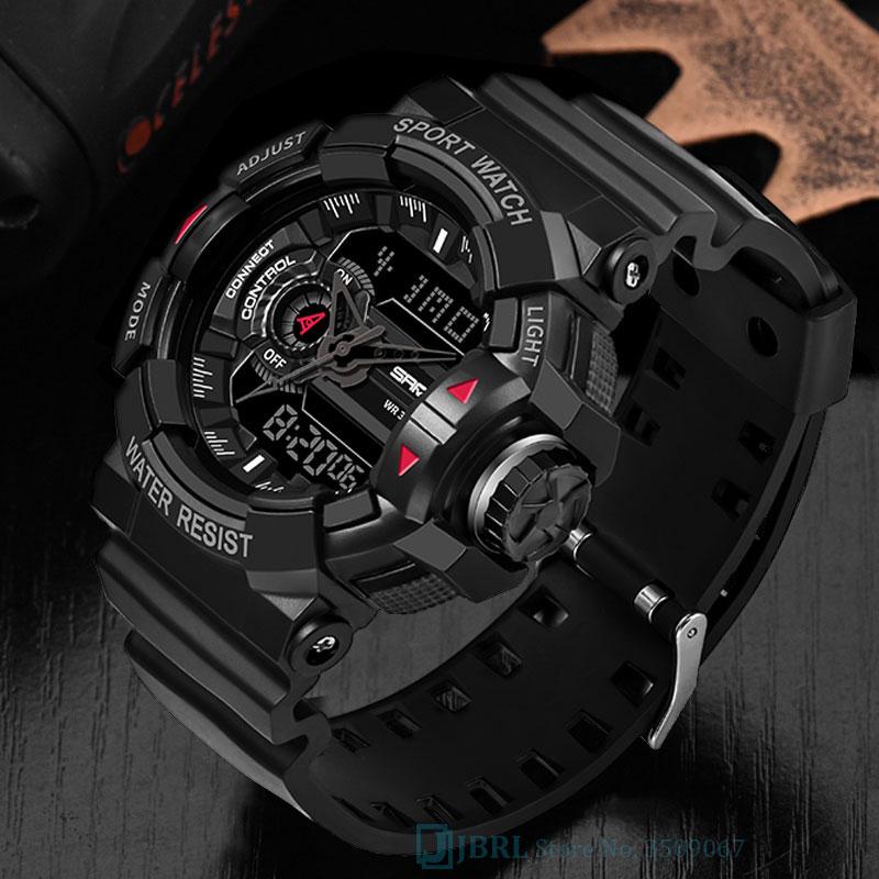 SANDA Brand Wrist Watch Men Watches Military Army Sport New Wristwatch Dual Display Male Watch For Men Clock Waterproof Hours(China)