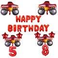 Набор воздушных шаров Blaze and the Monster Machine, украшение на день рождения, с днем рождения, алюминиевый воздушный шар, товары для вечеринок