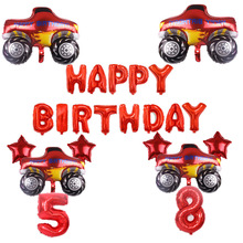 Aluminum Balloon Party-Supplies Birthday-Party-Decoration Monster Happy-Birthday Blaze