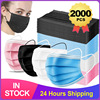 Blue Pink Disposable Medical Mask 7 Color 3 Layer Ply Filter Surgical Mask Anti-Dust Earloops Mouth Face Safety Medical Masks