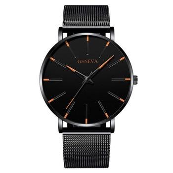 Αντρικό ρολόι Ultra Thin black Ρολόγια Αξεσουάρ MSOW