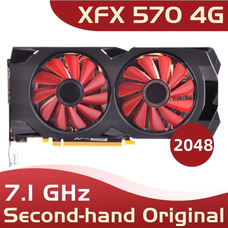 used xfx 570 4g 256bit GDDR5 desktop xfx graphics cards video card amd rx 570 4gb rx 570 radeon rx 570 video card 4gb
