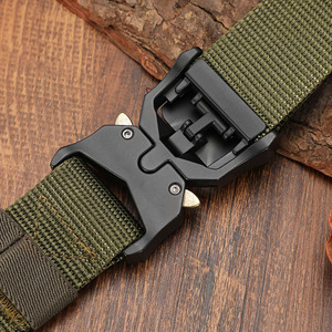 Image 5 - FRALU Tactical belt Military high quality Nylon mens training belt metal multifunctional buckle outdoor sports hook new