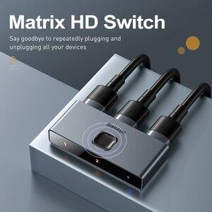 Image 5 - Baseus HDMI 스위치 4K HDMI 스위치 어댑터 HDMI 스위치 2x1 PS4/3 TV 박스 스위치 HDMI 양방향 스위치 게임 TV HDMI 스위처