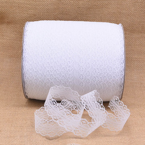 10M/roll 100% Polyester Lace Trim Ribbon Christmas Festive Flower Wrapper Gift Box Supplies DIY Sewing Craft Party Decoration