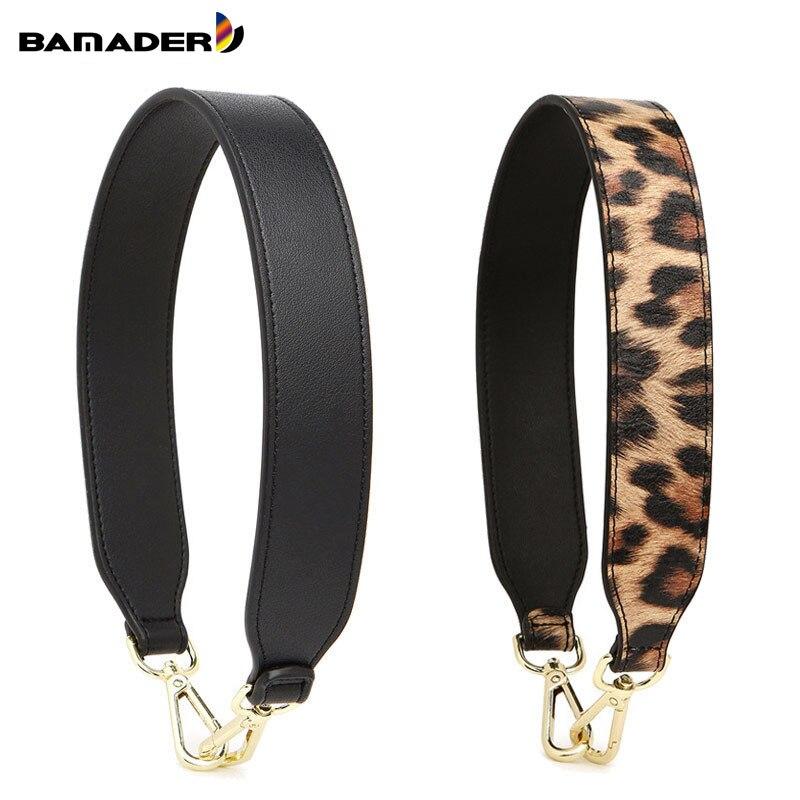 BAMADER High Quality Genuine Leather Women Short Bag Strap 58CM Replaceable Fashion Serpent Leopard Wide Shoulder Strap Obag