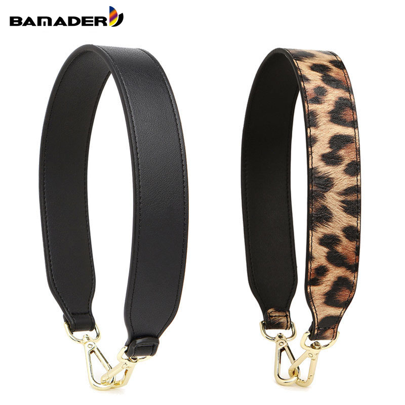 BAMADER High Quality Genuine Leather Women Short Bag Strap 58CM Replaceable Fashion Serpent Leopard Wide Shoulder Strap Obag