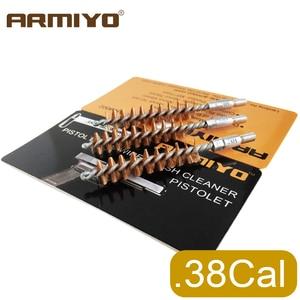 Armiyo углеродная щетка для чистки ствола пистолета 9 мм. 380/38. 357 Cal, насадка для чистки ружья, принадлежности для охоты, резьба 8-32 мм