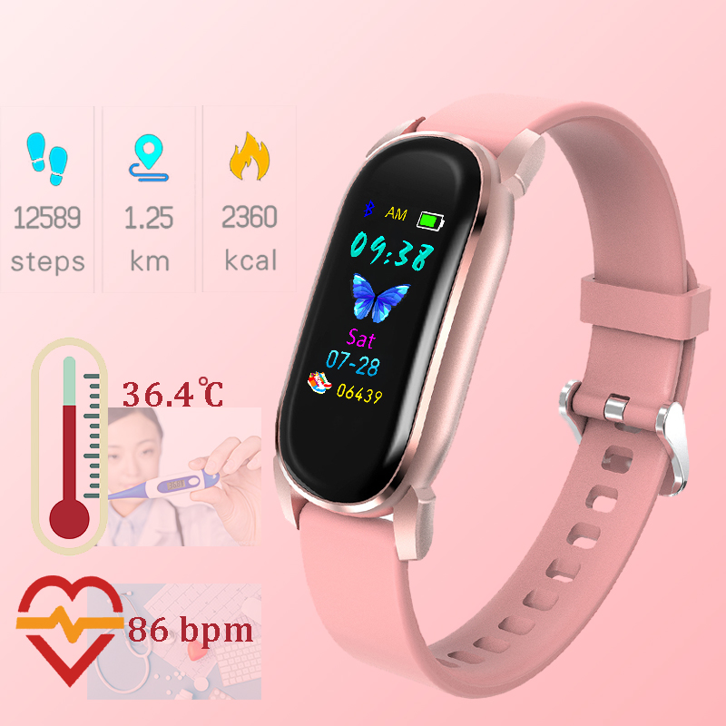 Temperature Watch Children Kids Watches For Girls Boys Wrist Watch Child Students Sport Clock Electronic Digital Wristwatch 1