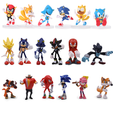 6Pcs/Set 7cm Sonic Boom Rare Dr Eggman Shadow action Figures Toy Pvc Toy Sonic Shadow Tails Characters Figure Toys For Children