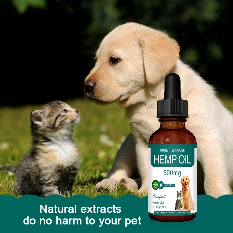 Pet-specific Plant Essential Oil For Dog Cats Relieve Stress Pain Organic Hemp Oil Pet SPA Massage Essential Oil