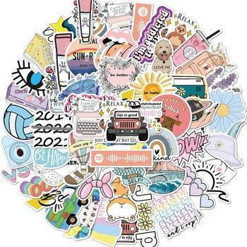 50 шт., пухлый кролик моланг, стикер s для девочки, милый мультфильм, аниме, животные, наклейка, наклейка на Канцтовары, гитара, ноутбук, скейтборд|Наклейки|   | АлиЭкспресс