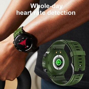 LEMFO K22 T Rex Pro Smart Watch Men 400Mah Big Battery Music Play Fitness Tracker Bluetooth Call Sport Smartwatch 2021 PK T Rex 6