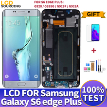 "5.7 ""Samsung Galaxy S6 kenar artı LCD ekran G928 G928F dokunmatik ekran Digitizer meclisi Samsung s6 kenar LCD yerine G925"