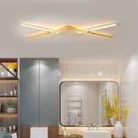 Modernas luzes de teto led para sala estar/estudo quarto corrodor nova lâmpada do teto lustres cromo/ouro terminado AC90-260V
