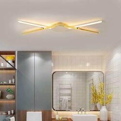 Nowoczesne lampy sufitowe LED do salonu/gabinet sypialnia Corrodor nowe lampy sufitowe nabłyszczania chrom/złote wykończenie AC90-260V