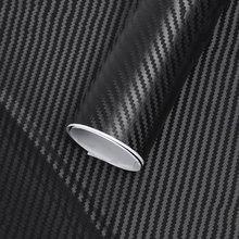127cm * 10cm à prova dwaterproof água estilo do carro envoltório de fibra de carbono vinil filme adesivos carro veículo automático detalhando acessórios do carro interior filme