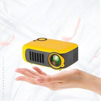 A2000 Casa Mini Pico Proiettore Led Supporto di Intrattenimento Hd Proiettore Evidenziare Obiettivo Ottico Interfaccia Multifunzione Arancione