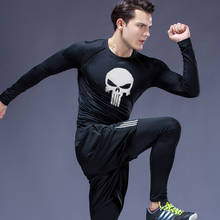 2020 New Sports Underwear Skull MMA tactical Tights Compression Fitness jogging suits long