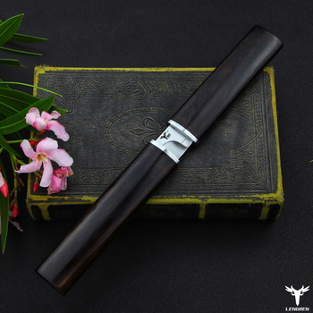 LENGREN D2 steel Japanese mirror knife, 58 60HRC vacuum heat treatment sharp camping hunting knife series (Samurai style) 5