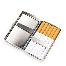 Чехол для сигарет из алюминиевого сплава, портативный карманный футляр для табака, контейнер для хранения, Подарочная коробка, аксессуары д...