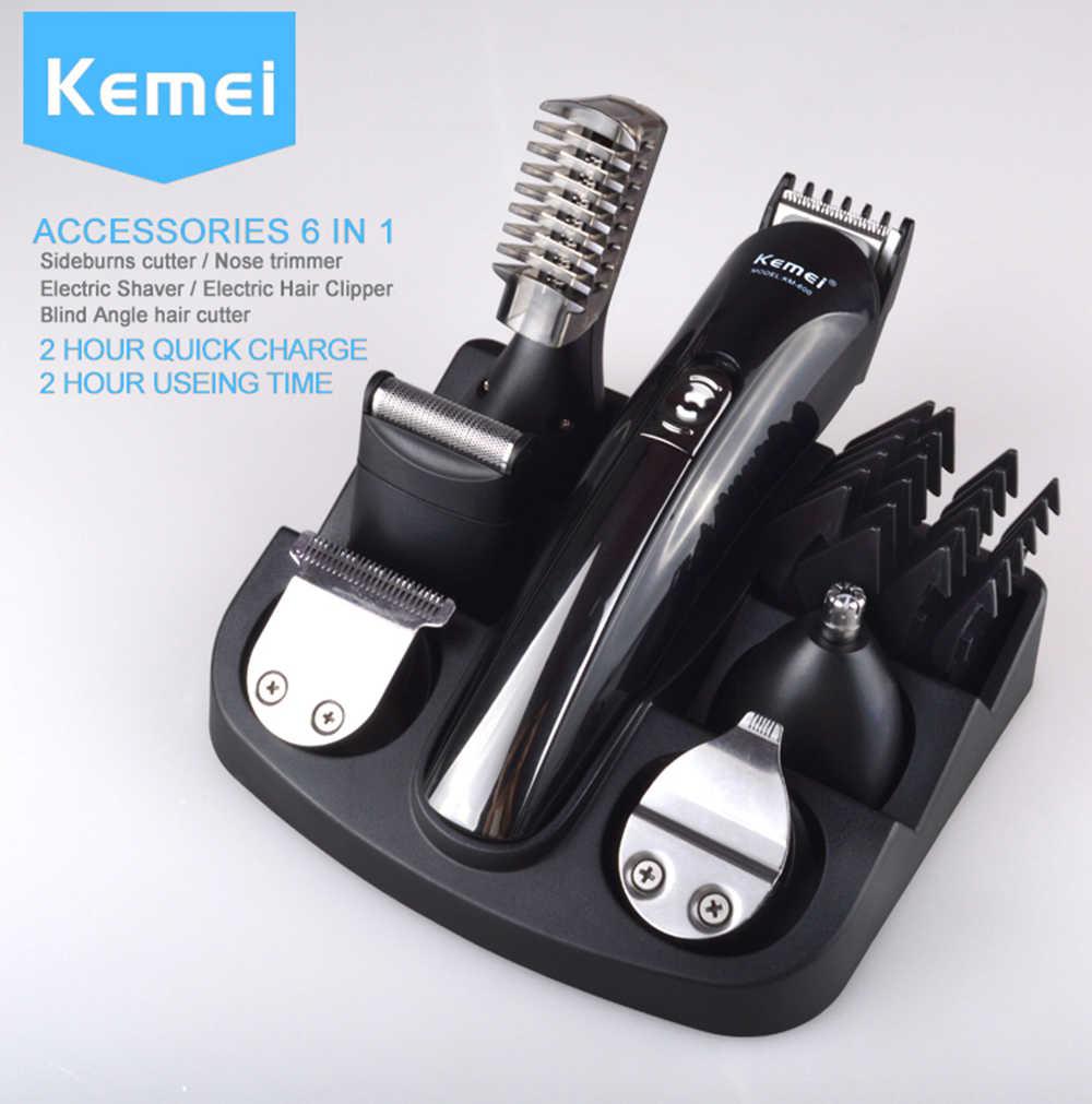 Kemei capelli trimmer professione capelli elettrico clippers uomo barba naso capelli trimmer Multifunzione tagliatore di capelli rasoio elettrico 5