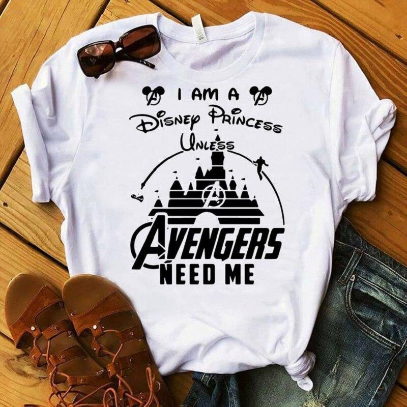 2019 Avengers Endgam Tshirt Women Streetwear Casual Graphic Tee Shirt Comics Femme Plus Size T-shirt Captain America Thanos Tops