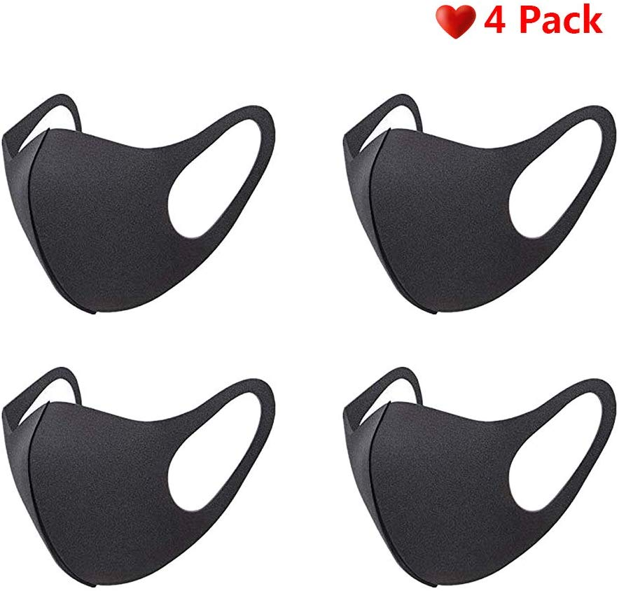 4PCS Sports Mask Breathable Mask Anti-dust Mask Anti-virus Mask Anti-bacterial Mask Recyclable Mask Washable Mask Three-layer